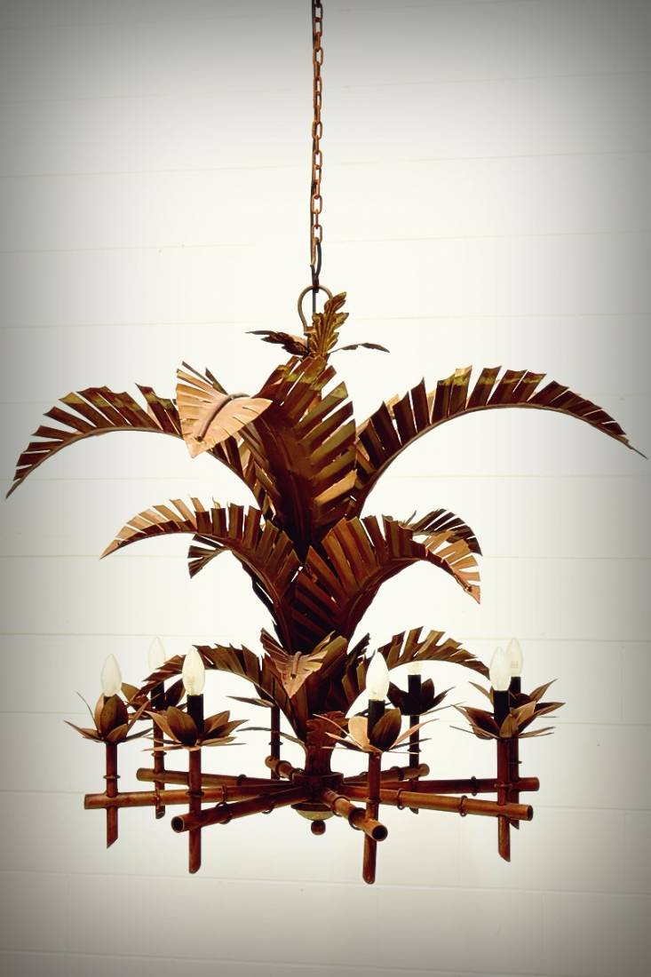 Florida Keys Large Palm Chandelier