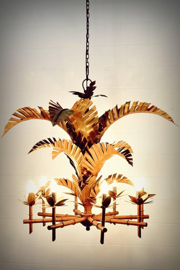 Florida Keys Palm Chandelier