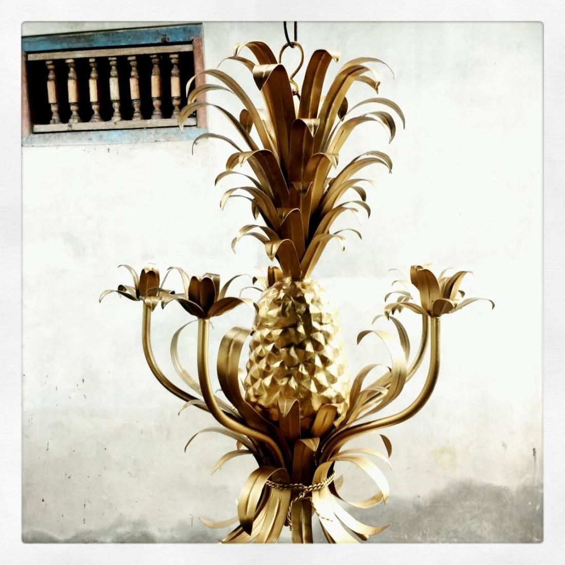 Miami Shores Pineapple Chandelier - 5 x light - Handwelded iron