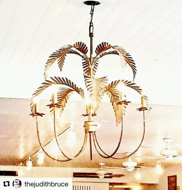 Brass Palm Springs Chandelier