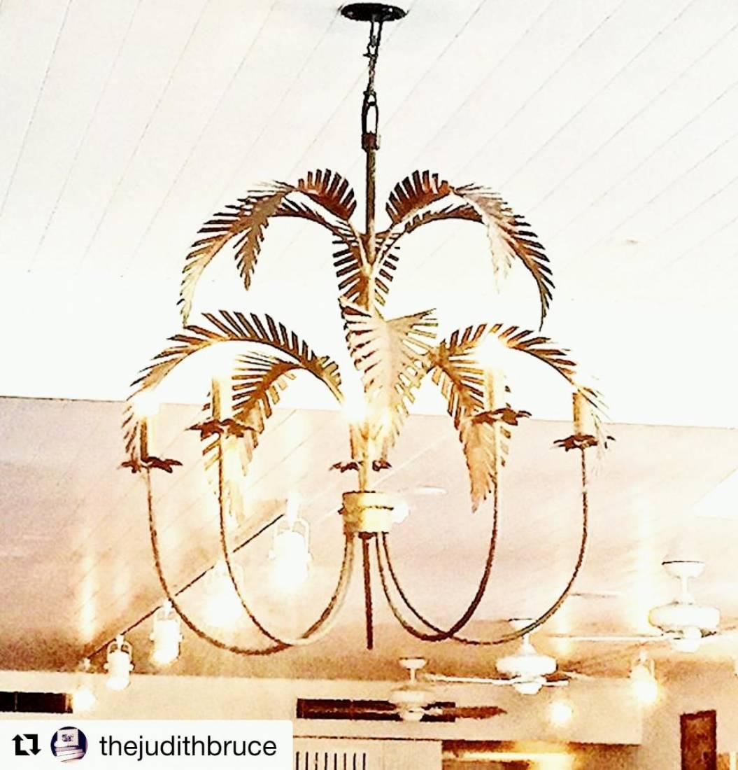 Brass Palm Springs Chandelier