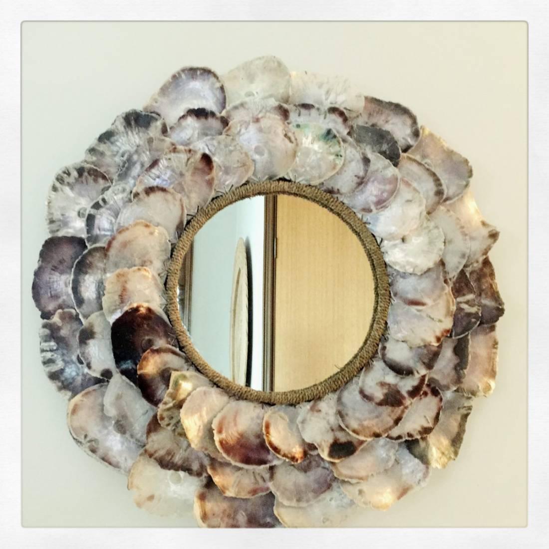 Placuna Crustacean Shell Mirror