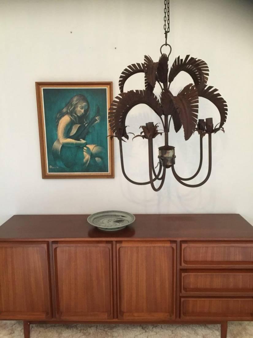 Palm Springs Chandelier - Russet 5 x light - Handwelded Iron