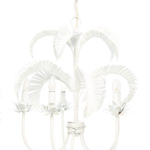 Palm Springs Chandelier - White. 5 x light