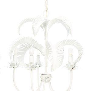 Palm Springs Chandelier - White. 5 x light