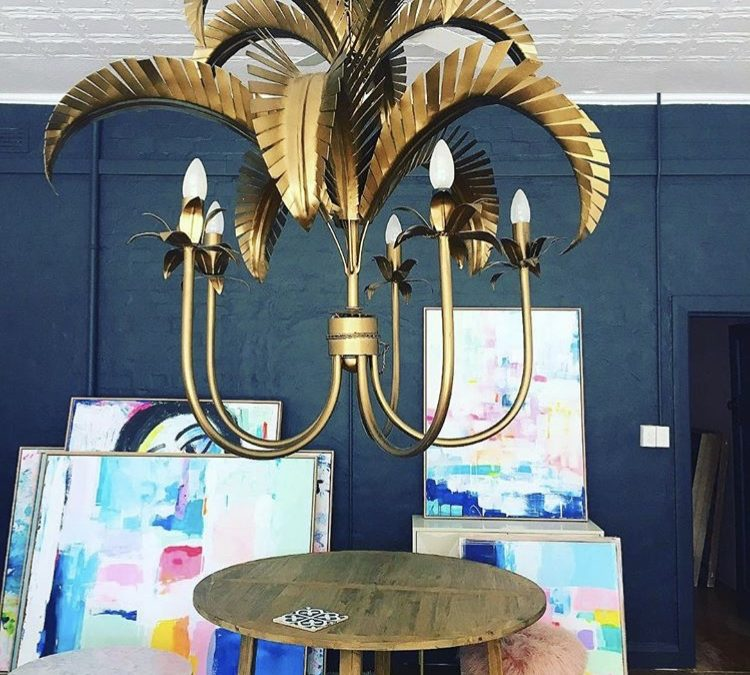 Large Palm Springs Chandelier
