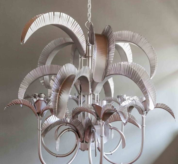 Cayman Island Palm Chandelier – new standard size.