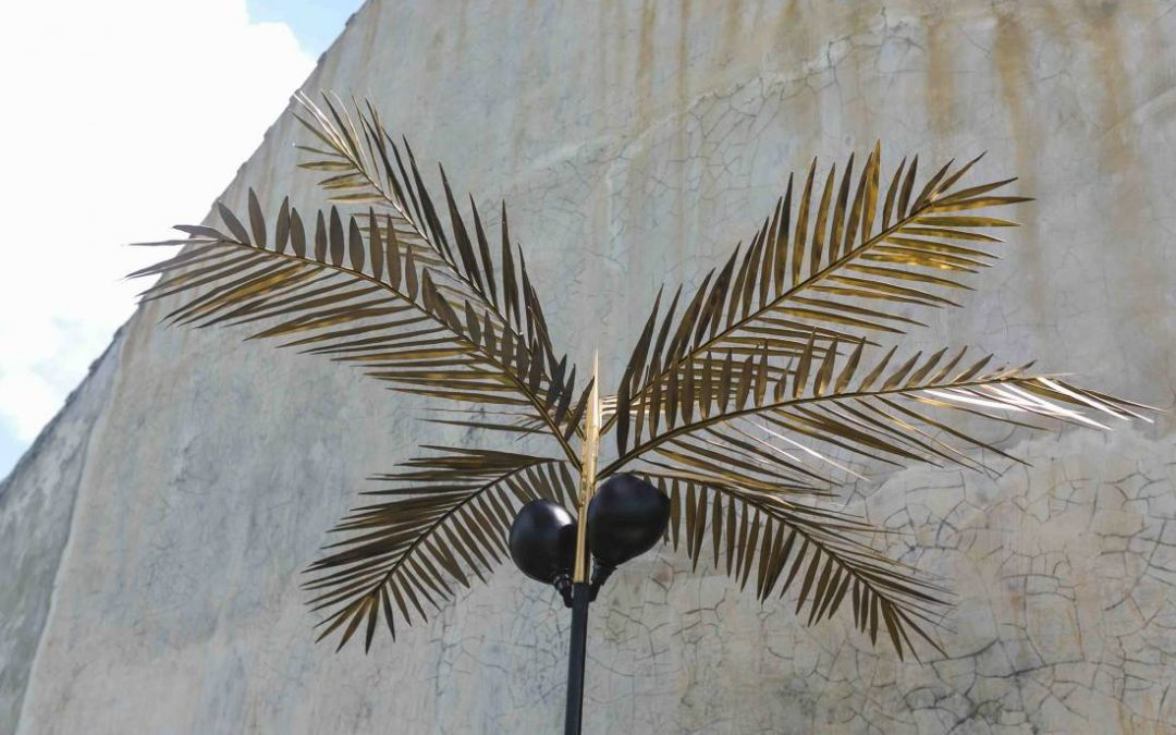 Coconut Palm Standing Lamp