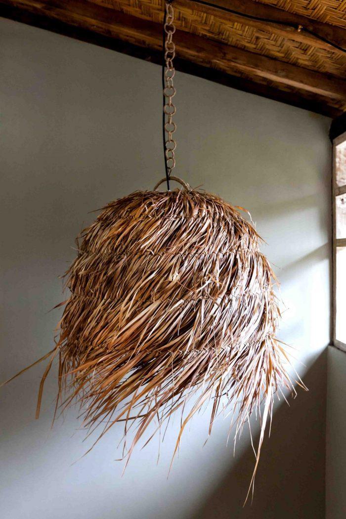 boho natural weave pendant lighting